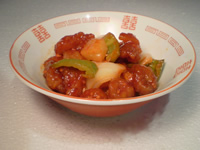 Chicken, Sweet and Sour with Vegetables